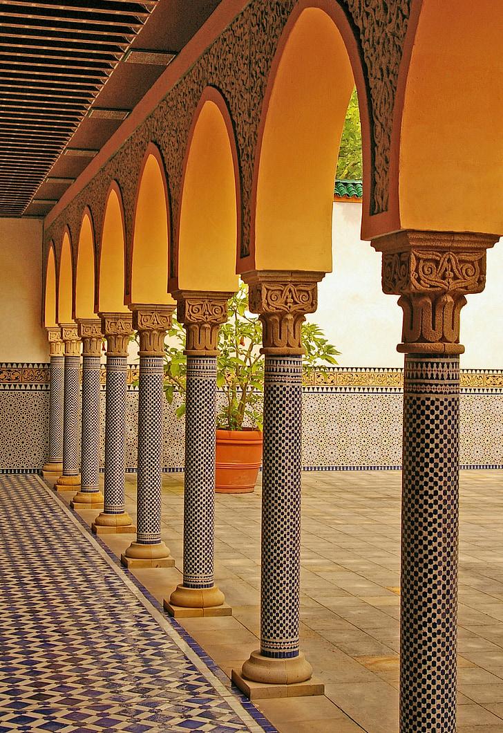 idamaine, idamaine Aed, ornament, maailma aiad, osavalt, struktuur, Värviline