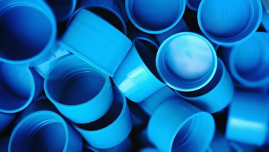 gorres, blau, color, ampolla casquet, indústria de la construcció, indústria, canonada - tub