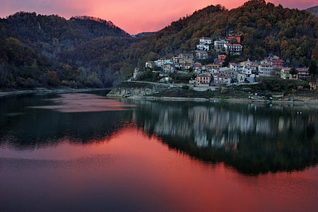 rieti, italy, village, town, buildings, architecture, sky