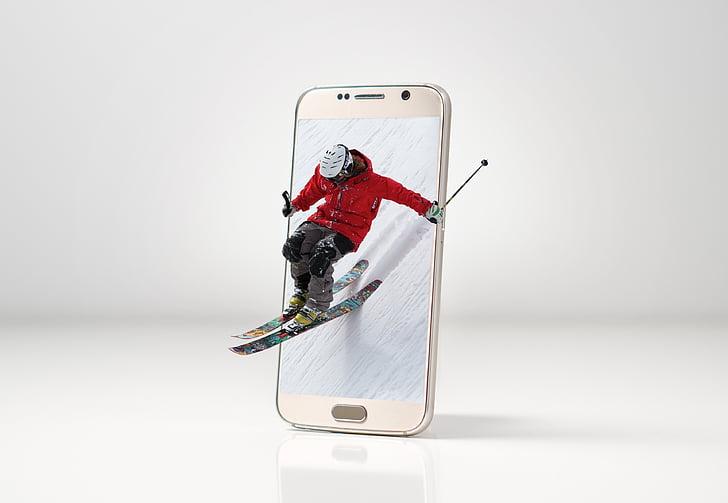 ski, snow, sport, winter, mountains, winter sports, skiing
