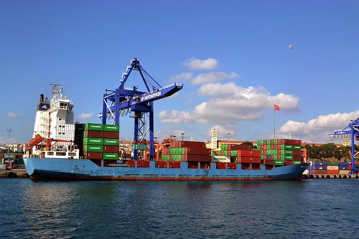 port, Harbor, skib