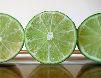 laimi, augļi, Citrus, svaigu, svaigiem augļiem, zaļa, citronu