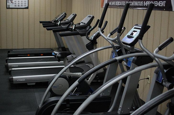 Fitness, trening, trening, løfte vekter, styrketrening, Øvelse