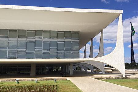 Brasilia, Palau de l'altiplà, plaça de les tres potències