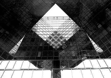 arhitektuur, peegel, peegeldus, maja, hoone, pilvelõhkuja, kaasaegne
