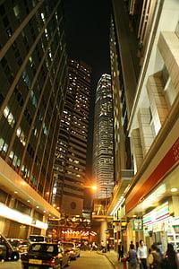 hongkong, night view, street, city, china, urban, night