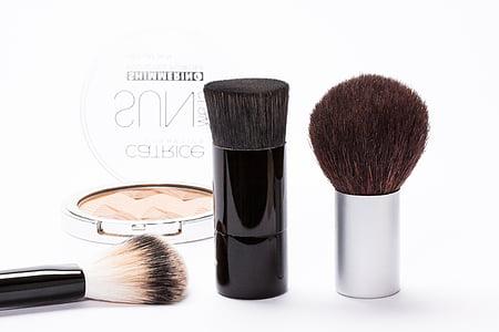 cosmètica, maquillatge, conformen, raspall, kabuki-pnsel, truges, cabell