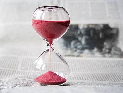 peščena ura, čas, ur, pesek, ura, odštevalnega časovnika, čas