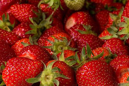 maduixes, fruita, fruites, vermell, tancar