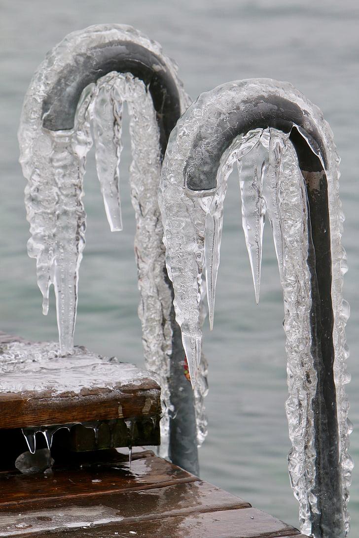 Web, apretones de la mano, hielo, Frosty, frío, congelados, en el agua