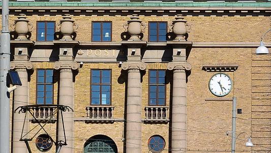 Göteborg, en historisk byggnad, detalj, postkontor, Sverige
