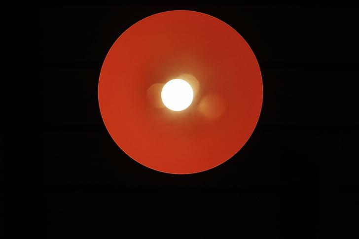 rodada, vermelho, amarelo, pontos, lâmpada, luz, lâmpada