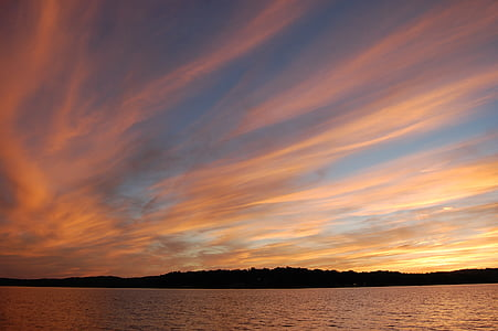 natureza, ao ar livre, pôr do sol, noite, padrão, atmosfera, Horizon