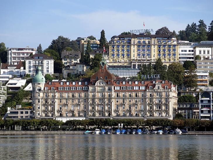 Hotel, Lucerna, Històricament, Palau, l'Hotel palace, luxe, Turisme