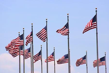 cờ Mỹ, chúng tôi, lá cờ, người Mỹ, màu đỏ, màu xanh, trắng