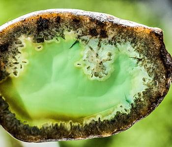 agatas, akmuo, perlas, brangakmenis, mineralinis, su, natūralus