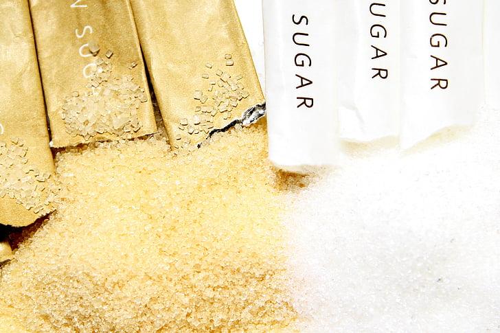 sucre, Sucre Moreno, Sa, marró, dolç, canya, aliments