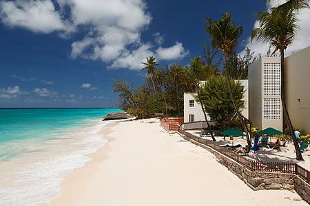 синій, Тропічна, Карибський басейн, літо, екзотичні, подорожі, Готель