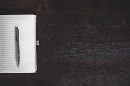 Märkmik, pliiatsi, Tabel, No inimesed, siseruumides, Suurendus:, päev