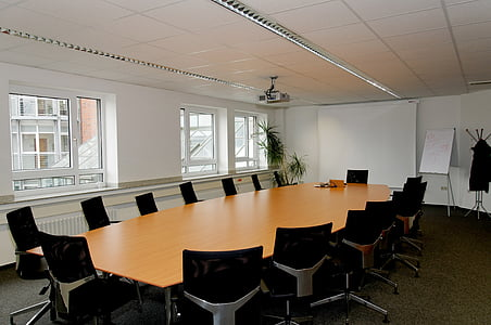 conference room, table, chairs, beamer, window, conference, indoors
