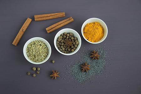 espècies, condiment, aliments, llavors, anís estrellat, pinyons, anís