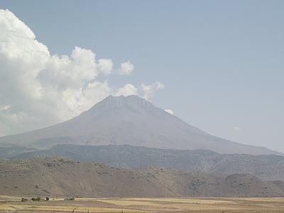 paisagem, vulcão, Hasan, montanha, natureza, Japão, Monte fuji