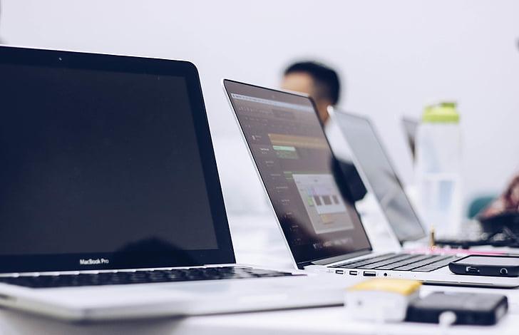 macbook, pro, table, top, laptop, computer, apple
