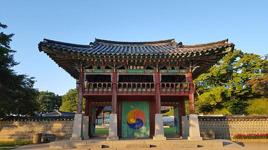 haemieupseong, autumn, hanok, cultural property, autumn sky, republic of korea, korea