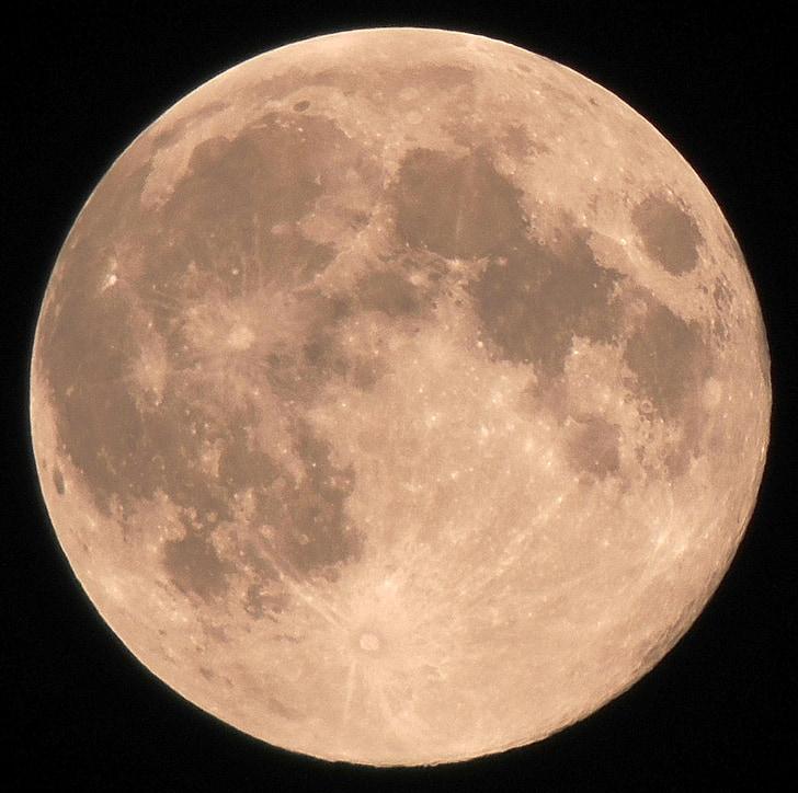 повний місяць, місяць, кратерів місяця, місячний пейзаж