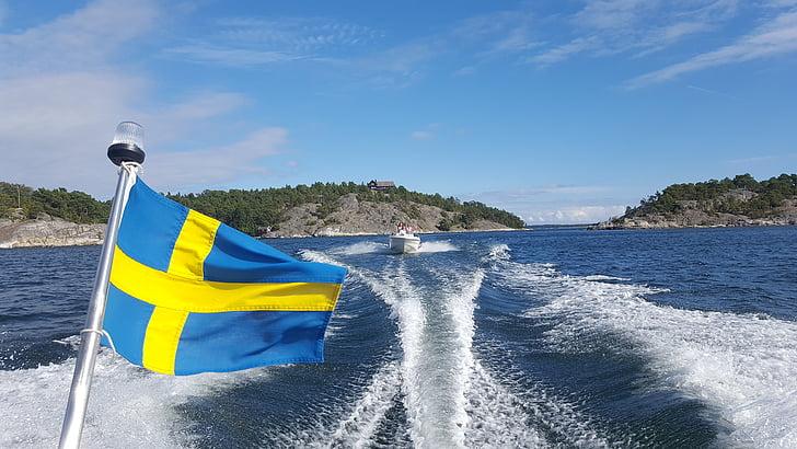 båt, skärgård, havet, fritidsbåt, Sverige, Stockholms skärgård, motorbåt