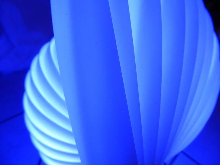 синій, світло, лампа, візерунок, рух