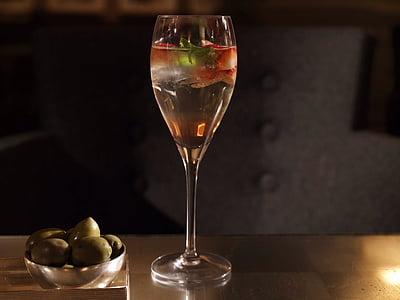 kokteil, jook ohver, Martini, alkoholi, jook, Tabel, veini
