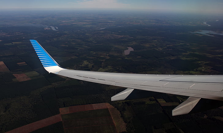 lentokoneen siipi, Flying, lentokone, siipi, ilma-aluksen, kone, kuljetus