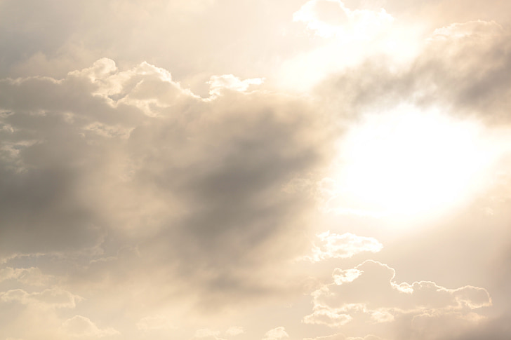 sunny, clouds, mist, daylight, atmosphere, air, weather