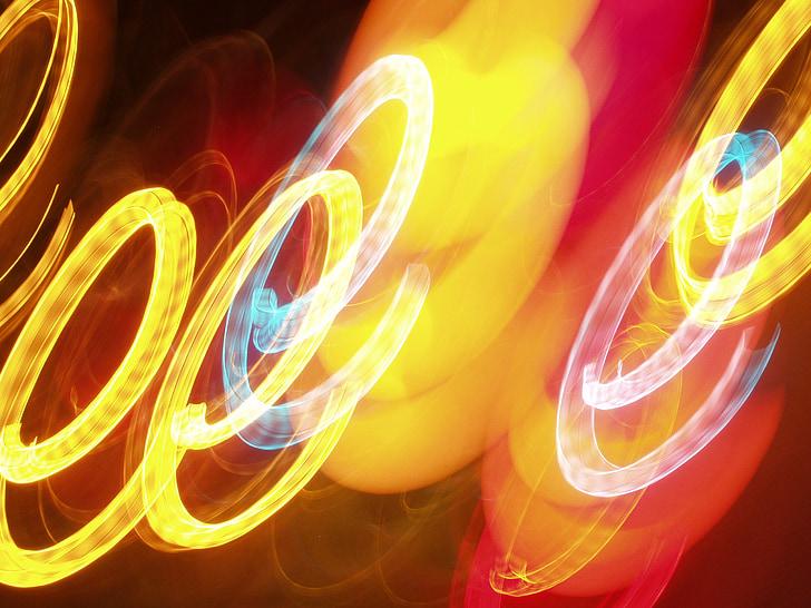 luzes, plano de fundo, luz, Cor, humor, padrão, imagem de fundo