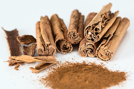 cinnamon stick, cinnamon powder, spice, flavoring, cinnamon, cooking, seasoning