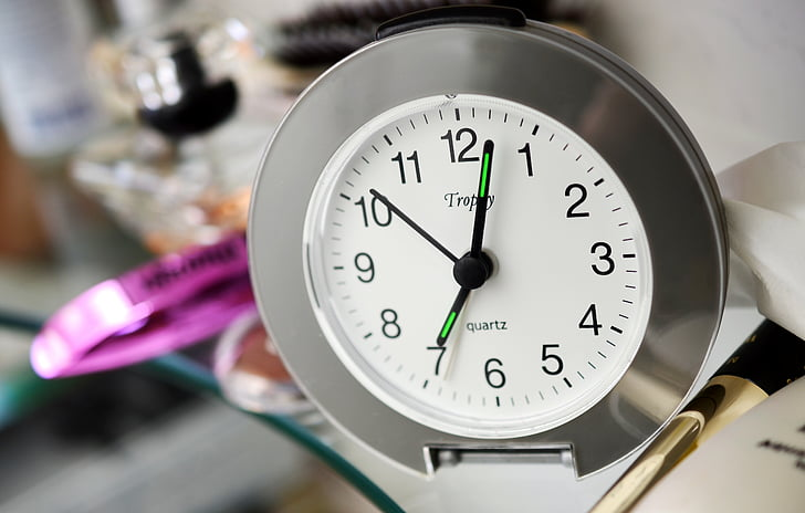 aeg, võtta aega, kosmeetika, moodustavad, vannituba, varahommikul, meik