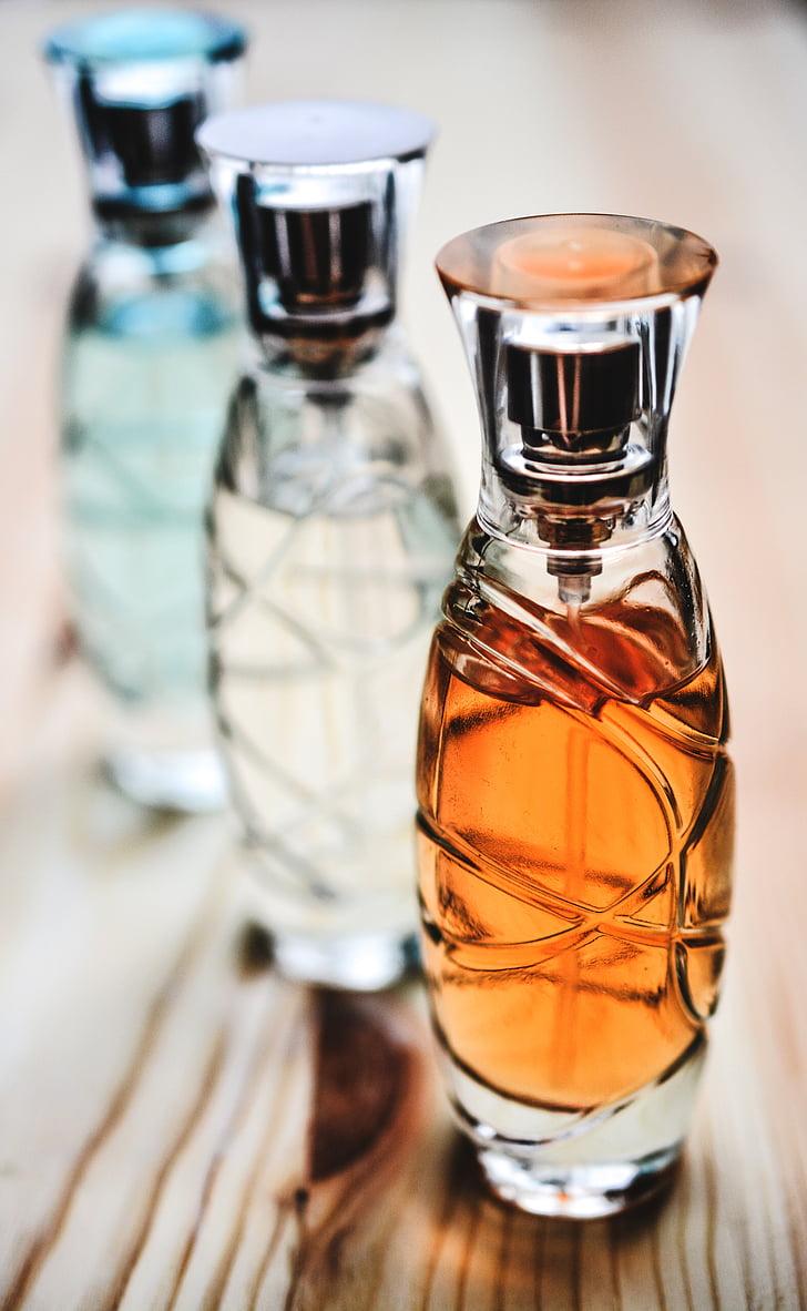 Parfüümid, pudel, klaas, kosmeetika, aroom, Parfüümid Pudel, spray