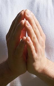 mans, mà, meditació, pregar, fe, pregària, meditar