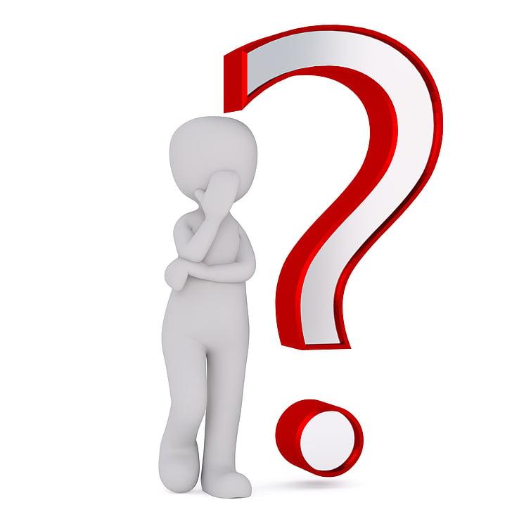 pregunta, ajuda, Resposta, símbol, icona, personatges, problema