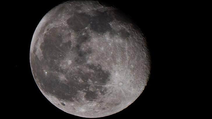місяць, місяць, білий місяць, повний місяць, Кратер місяць, яскравою місяця, місяця половини