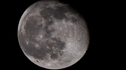 der Mond, Mond, weißer Mond, Vollmond, Krater-Mond, hellen Mond, Halbmond