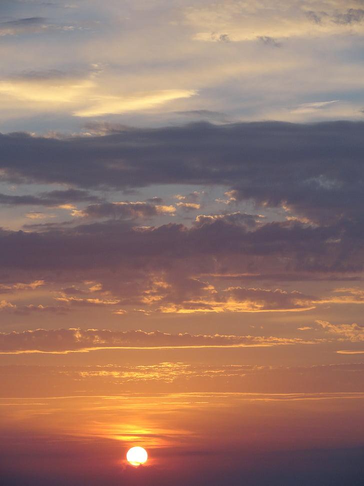 พระอาทิตย์ตก, ท้องฟ้า, เมฆ, ละคร