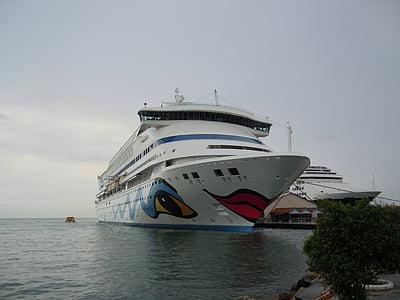 Aida, brīvdiena, jūra, kruīza kuģa vadīšanas, laivas
