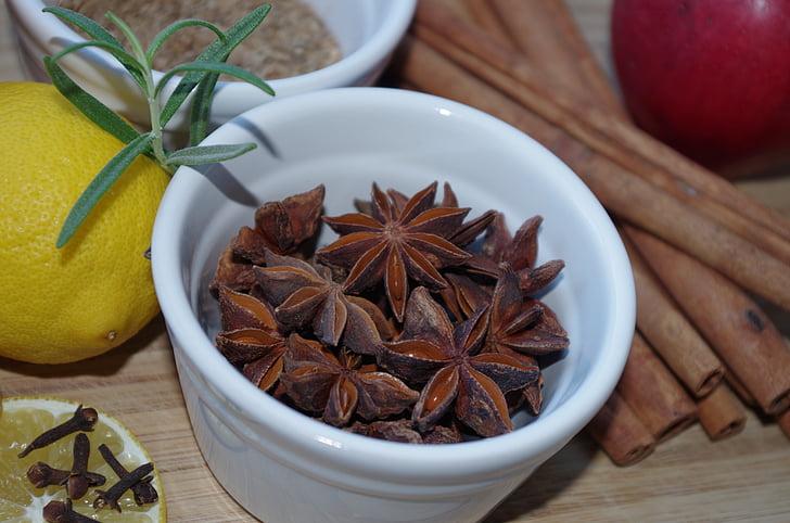 зірки анісу, перець, Спеції, випічка, ароматні, аніс, Різдво