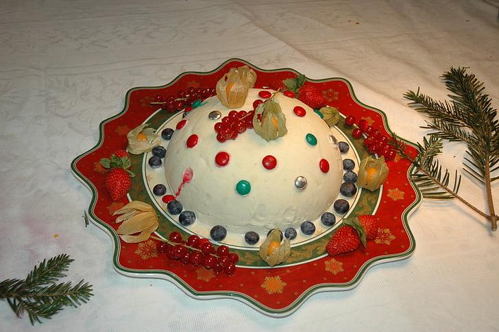jul, Christmas tårta, efterrätt, glass tårta, Ice, mat, part