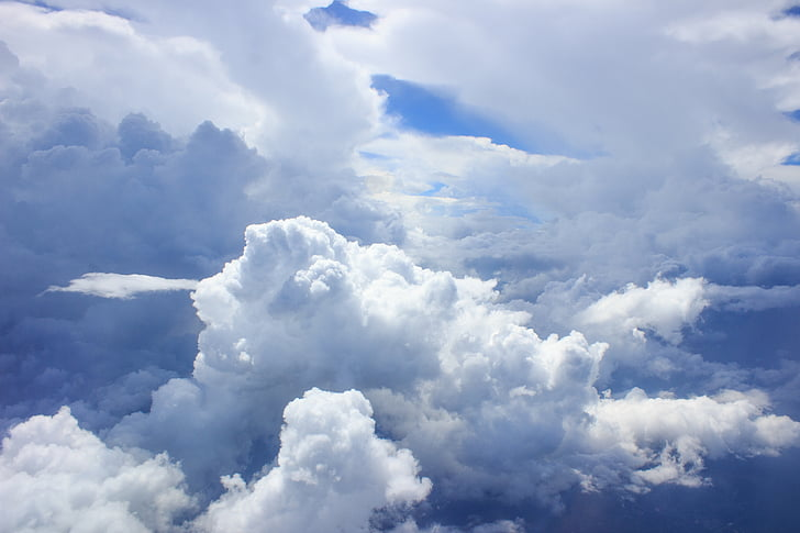 clouds, heavy, breathtaking, white, sky, beautiful, nature