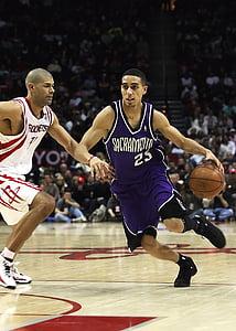 bàsquet, professional, el NBA, acció, jugador, regat, defensa