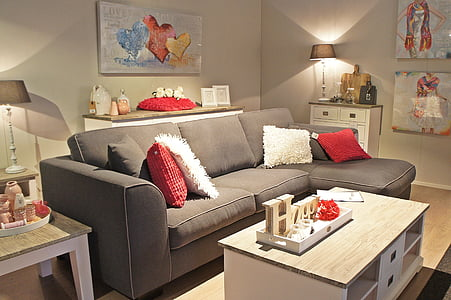furniture, bench, atmosphere, living room