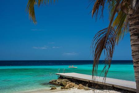Plaża, piasek, wody, Ocean, morze, Karaiby, Tropical